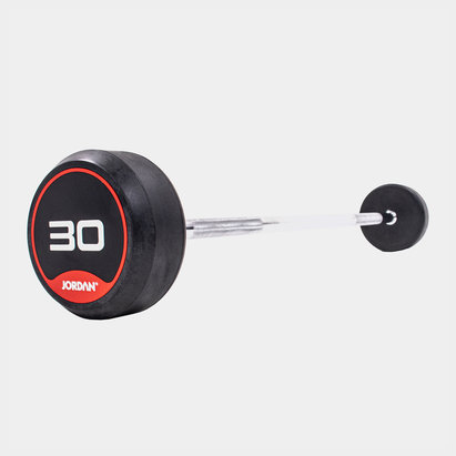 Jordan 30kg Classic Rubber Barbell with Straight Bar