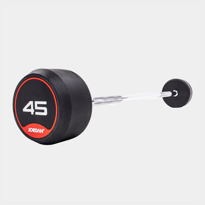 Jordan 45kg Classic Rubber Barbell with Straight Bar