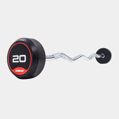 Jordan 20kg Classic Rubber Barbell with Curl Bar
