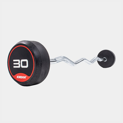 Jordan 30kg Classic Rubber Barbell with Curl Bar