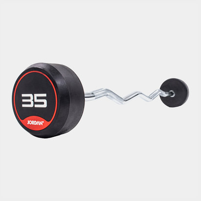 Jordan 35kg Classic Rubber Barbell with Curl Bar