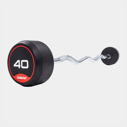 Jordan 40kg Classic Rubber Barbell with Curl Bar