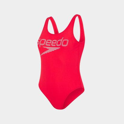 Speedo Logo U Back Swimsuit Ladies