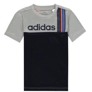 adidas Clima Stripe T Shirt Junior Boys
