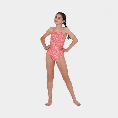 Speedo Dazzle Print Swimsuit Junior Girls
