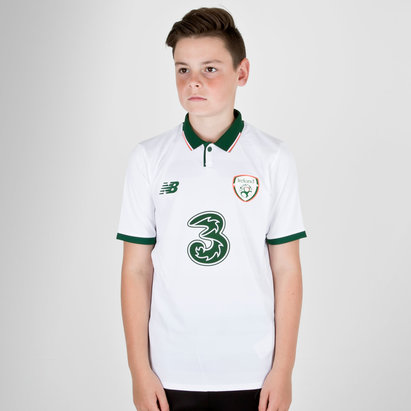 New Balance Republic of Ireland 17/18 Kids Away S/S Replica Football Shirt