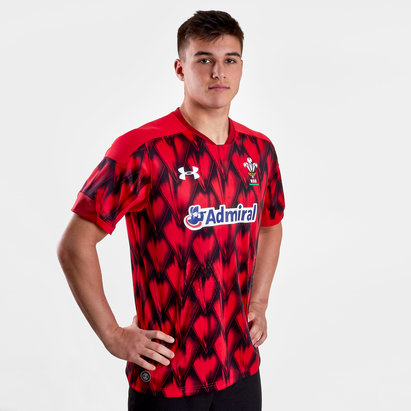 Under Armour Wales WRU 2018/19 Home Rugby 7s Replica S/S Shirt