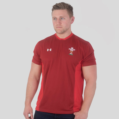 Under Armour Wales WRU 2018/19 Players Rugby Training T-Shirt