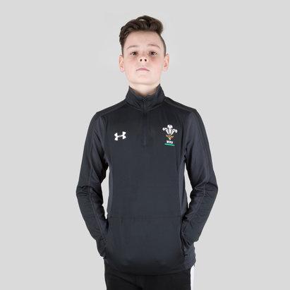 Under Armour Wales WRU 2017/19 Kids 1/4 Zip Rugby Training Top