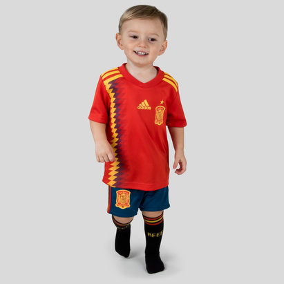 adidas Spain 2018 Home Mini Kids Replica Football Kit