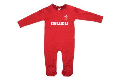 Wales Rugby Wales WRU 2017/18 Infants Rugby Sleepsuit