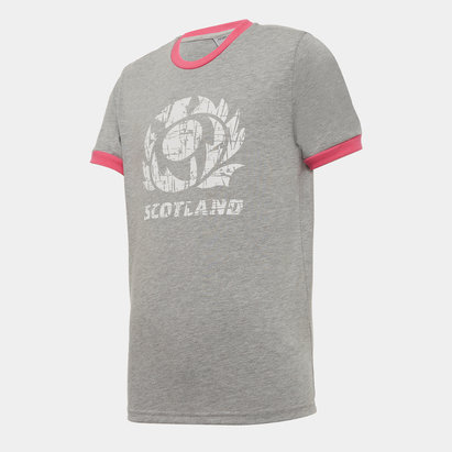 Macron Scotland Poly T Shirt Junior Boys
