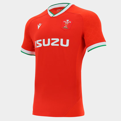 Macron Wales Home Authentic Shirt 2020 2021