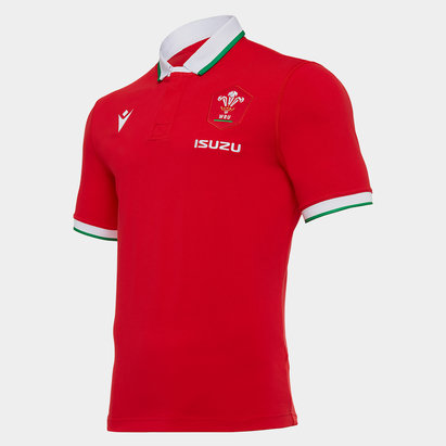 Macron Wales Home Classic Rugby Shirt 2020 2021