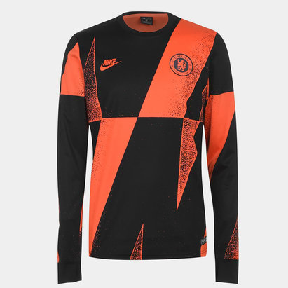 Nike Chelsea FC Long Sleeve Pre Match Jersey Mens