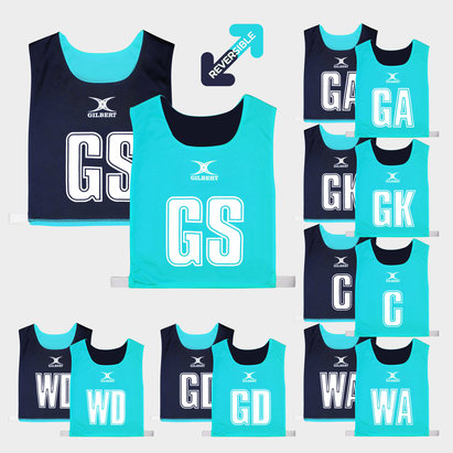 Gilbert Netball Reversible Bibs Set of 7