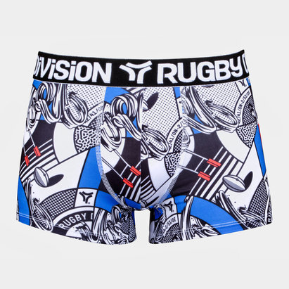 Rugby Division Bankster Graphic Boxer Shorts
