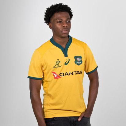 Asics Australia Wallabies 2018/19 Home Players Test Rugby Shirt