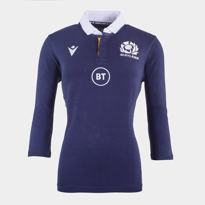Macron Scotland Classic Home Rugby Shirt 2020 2021 Ladies