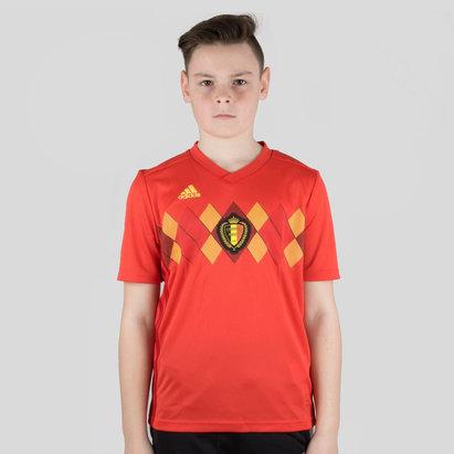 adidas Belgium 2018 Kids Home S/S Replica Football Shirt