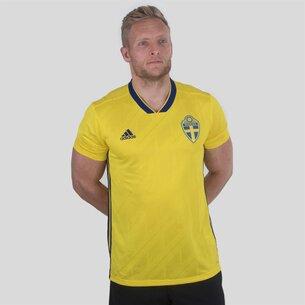 adidas Sweden 2018 Home S/S Replica Football Shirt