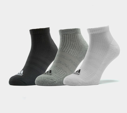 3 Pk adidas 3 Stripe Performance No Show Socks