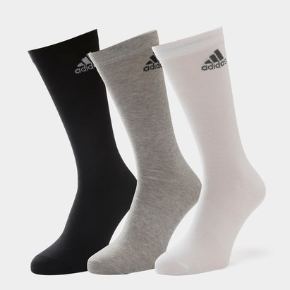 3 Pk adidas Performance Crew Thin Socks