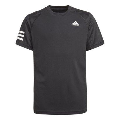 adidas Basic Club 3 Stripe Tennis T Shirt