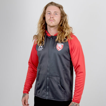 Gloucester 2018/19 Full Zip Hooded Rugby Sweat