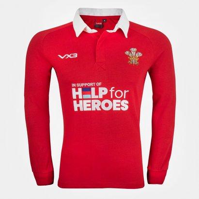 VX-3 Help 4 Heroes Wales Long Sleeve Jersey Mens