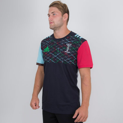 adidas Harlequins 2018/19 Cotton Rugby T-Shirt