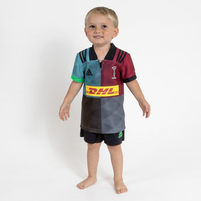 adidas Harlequins 2018/19 Kids Home Replica Rugby Kit