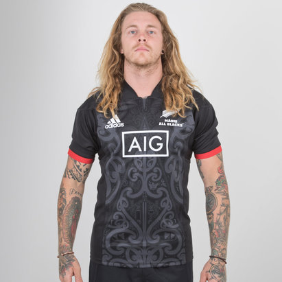 adidas New Zealand Maori All Blacks 2018 S/S Rugby Shirt