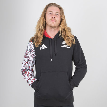 adidas New Zealand Maori All Blacks 2018/19 Hooded Rugby Sweat
