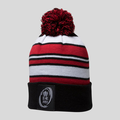 Samurai Army Rugby Union Striped Bobble Hat