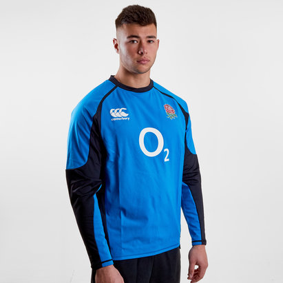 Canterbury England 2018/19 Players Drill Rugby Training Top