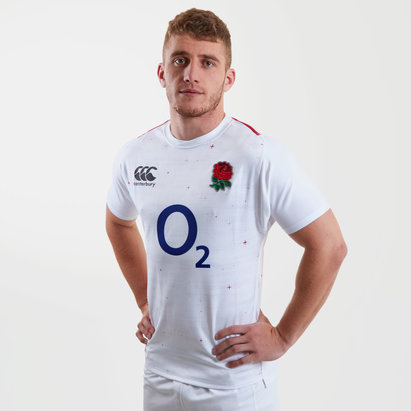 Canterbury England 2018/19 Home S/S Players Test Rugby Shirt