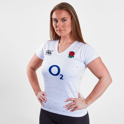 Canterbury England 2018/19 Ladies Home Pro S/S Rugby Shirt