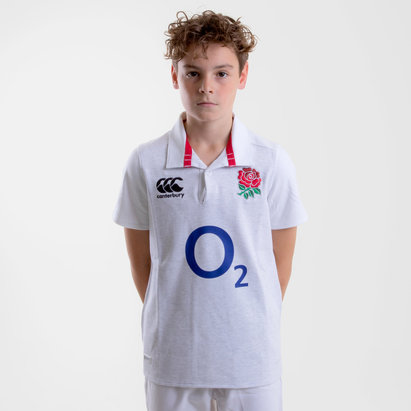Canterbury England 2018/19 Home Classic Kids S/S Rugby Shirt