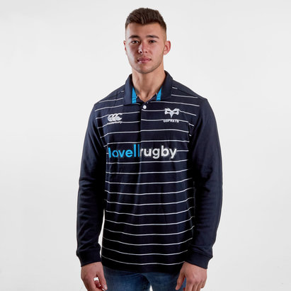 Canterbury Ospreys 2018/19 Home Classic L/S Rugby Shirt