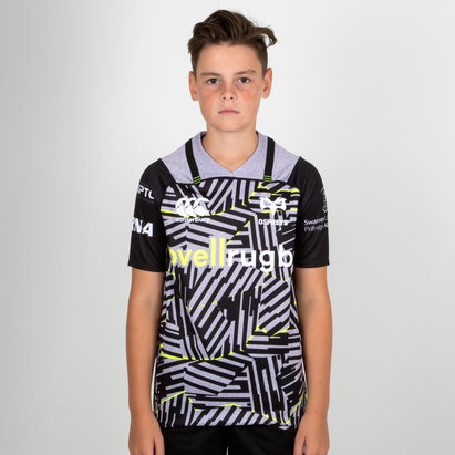 Canterbury Ospreys 2018/19 Kids 3rd S/S Pro Rugby Shirt