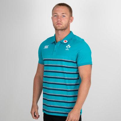Canterbury Ireland IRFU 2018/19 Cotton Stripe Rugby Polo Shirt