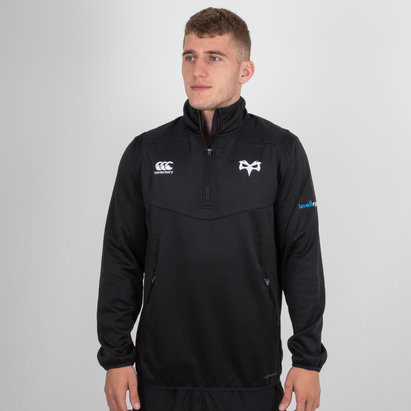 Canterbury Ospreys 2018/19 Players 1/4 Zip Rugby Training Top