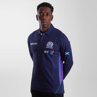 Macron Scotland 2018/19 Home Cotton L/S Replica Rugby Shirt