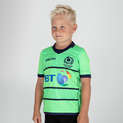 Macron Scotland 7s 2018/19 Kids Alternate S/S Replica Rugby Shirt