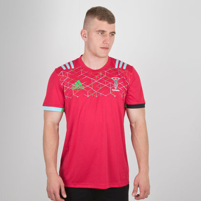 adidas Harlequins 2018/19 Players Performance Rugby T-Shirt
