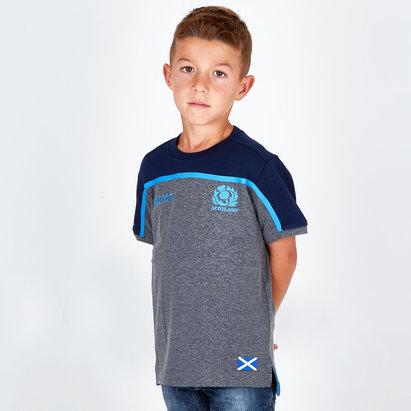 Macron Scotland 2018/19 Kids Travel Rugby T-Shirt