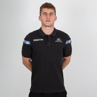 Macron Glasgow Warriors 2018/19 Cotton Piquet Rugby Polo Shirt