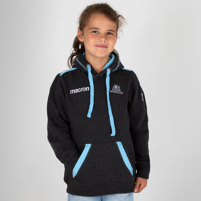 Macron Glasgow Warriors 2018/19 Kids Heavy Cotton Hooded Rugby Sweat