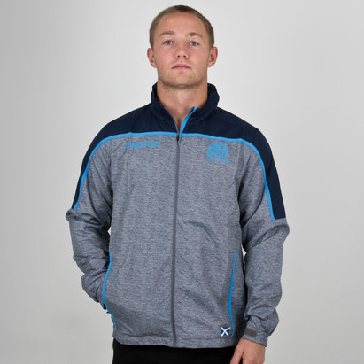 Macron Scotland 2018/19 Players Full Zip Shower Rugby Jacket